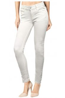 Skinny Raw White Denim