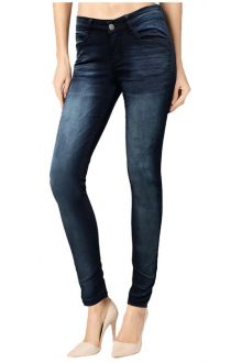 Skinny Darck Blue Sea Denim