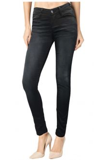 Skinny Darck Wash Black Denim