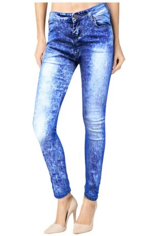 Skinny Acid Wash Blue Denim
