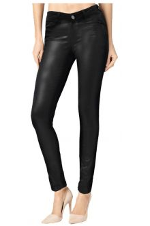 Skinny Black Coated Denim