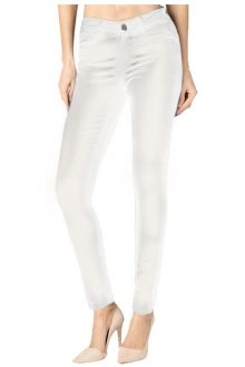 Skinny White Coated Denim