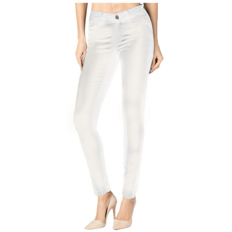 Skinny White Coated Denim - Skylton