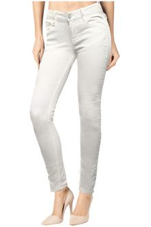 Slim Raw White Denim