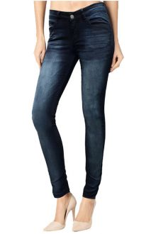 Slim Dark Wash Blue Denim