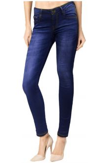 Slim Comfort Dark Wash Blue Denim