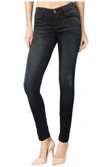 Slim Dark Wash Black Denim