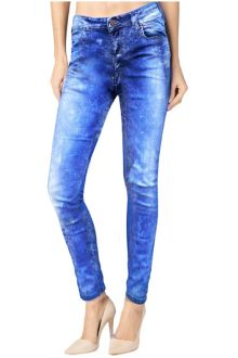 Slim Acid Wash Blue Denim