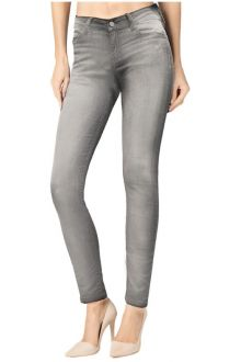 Slim Light Wash Grey Denim