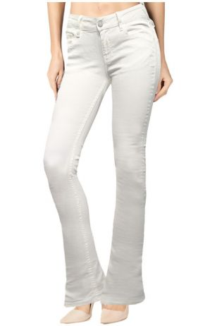 Boot-Cut Raw White Denim
