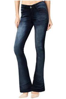Boot-Cut Dark Wash Blue Denim