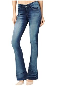 Boot-Cut Medium Wash Blue Denim