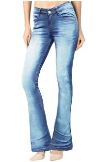 Boot-Cut Light Wash Blue Denim