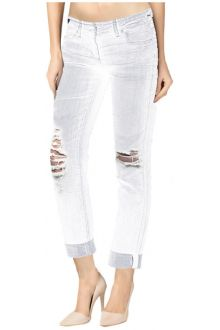 Boyfriend Ripped White Denim